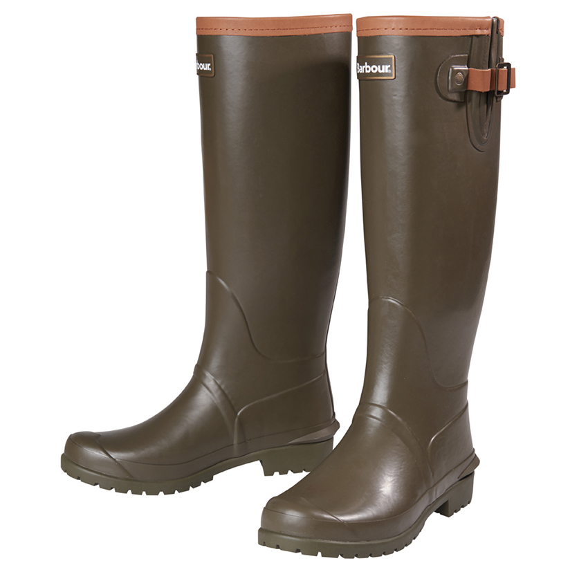Barbour Blyth Wellington Boots Olive