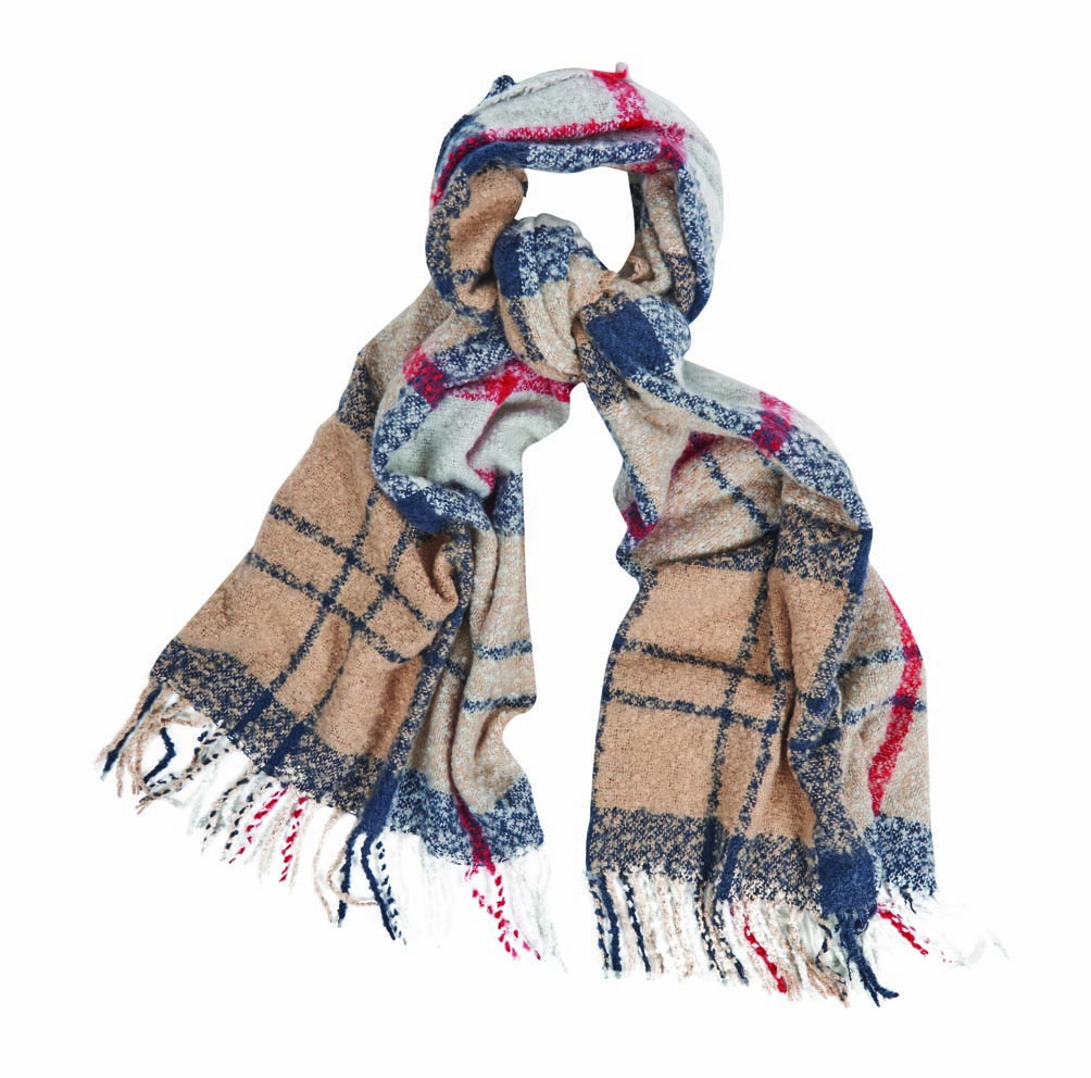 Barbour Barbour Tartan Boucle Scarf Winter Caramel Barbour Lifestyle: From the Winter Tartan collection