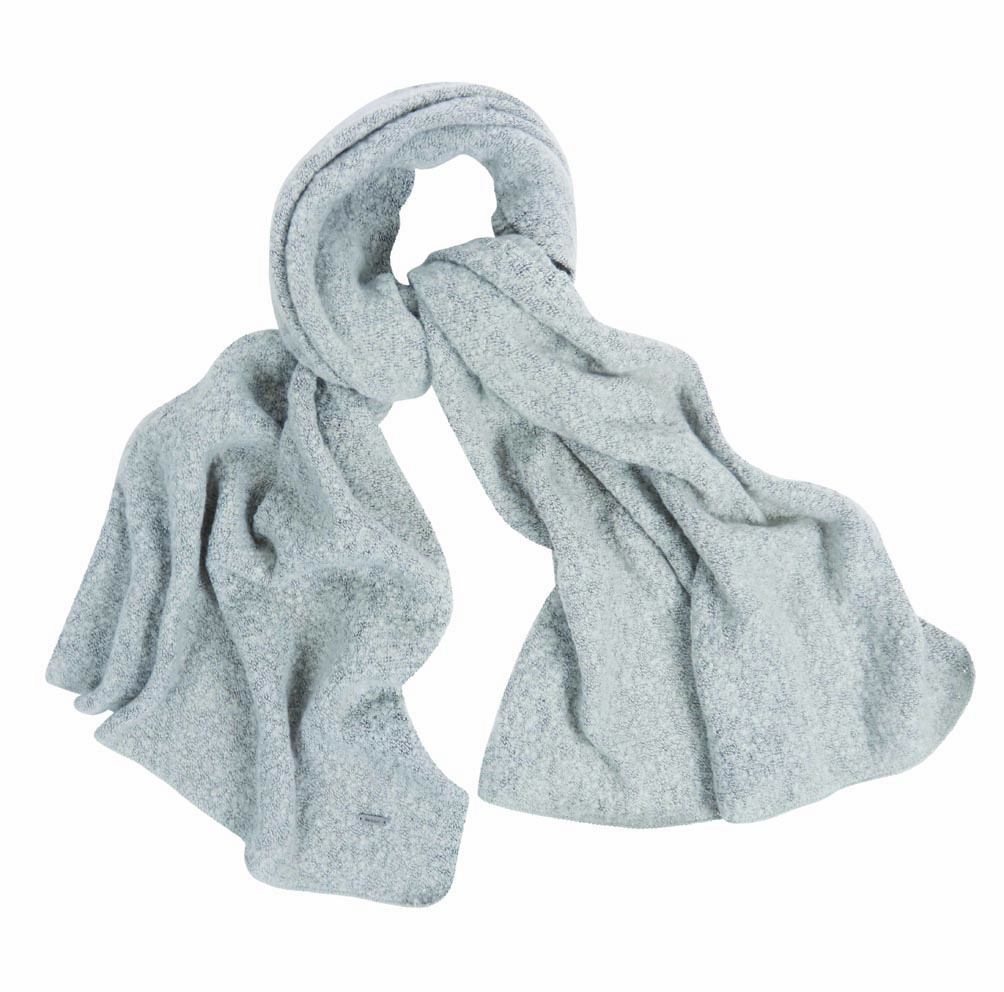Barbour Barbour Plain Boucle Scarf Ash Grey Barbour Lifestyle: From the Winter Tartan collection