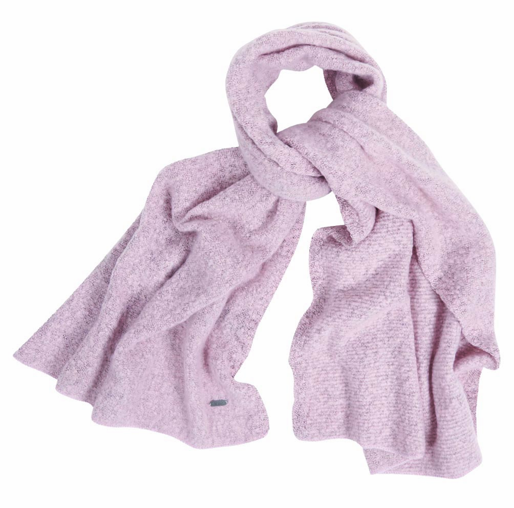 Barbour Barbour Plain Boucle Scarf Pink Barbour Lifestyle: From the Winter Tartan collection