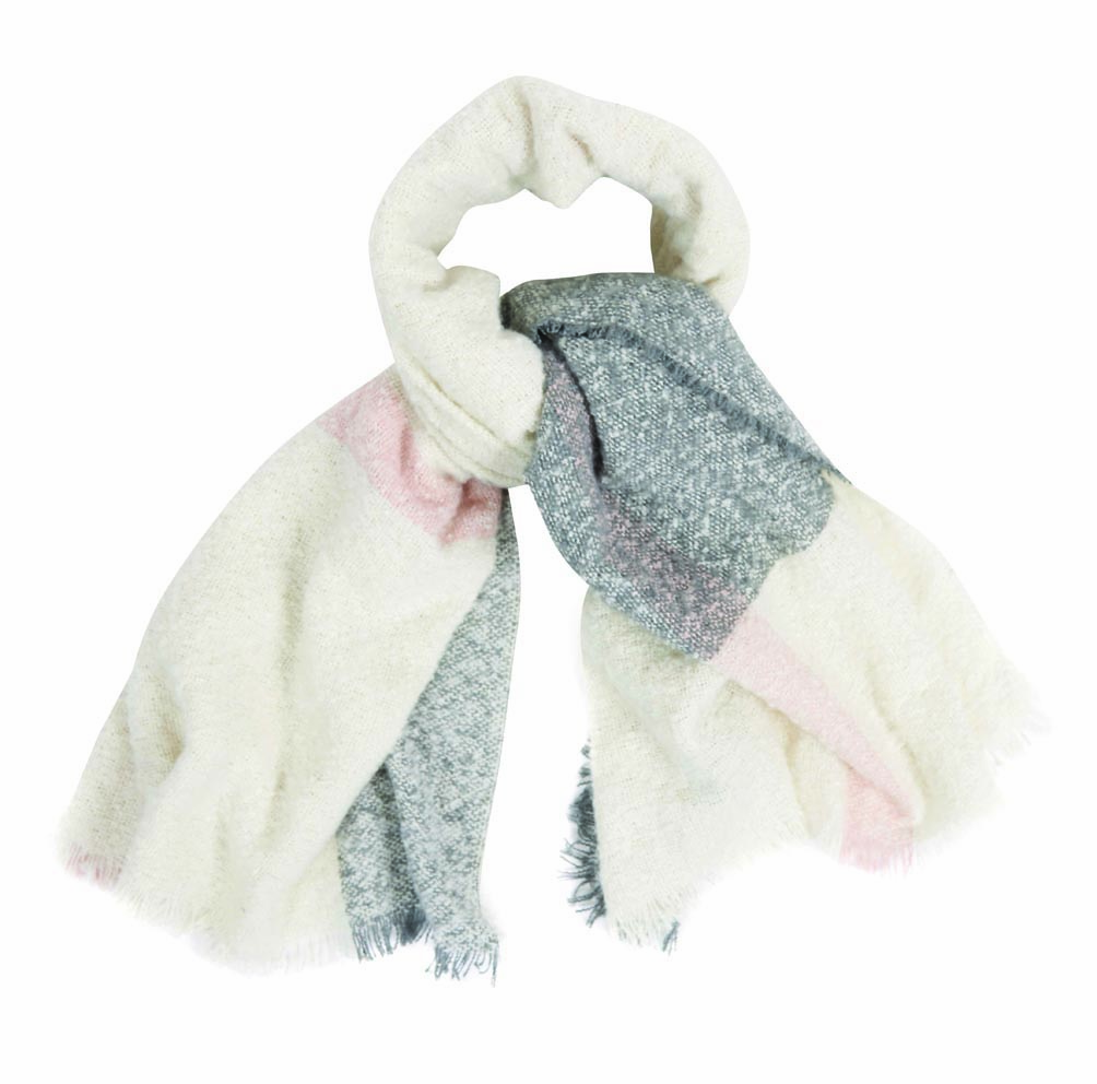 Barbour Barbour Plaid Boucle Scarf White Barbour Lifestyle: From the Winter Tartan collection