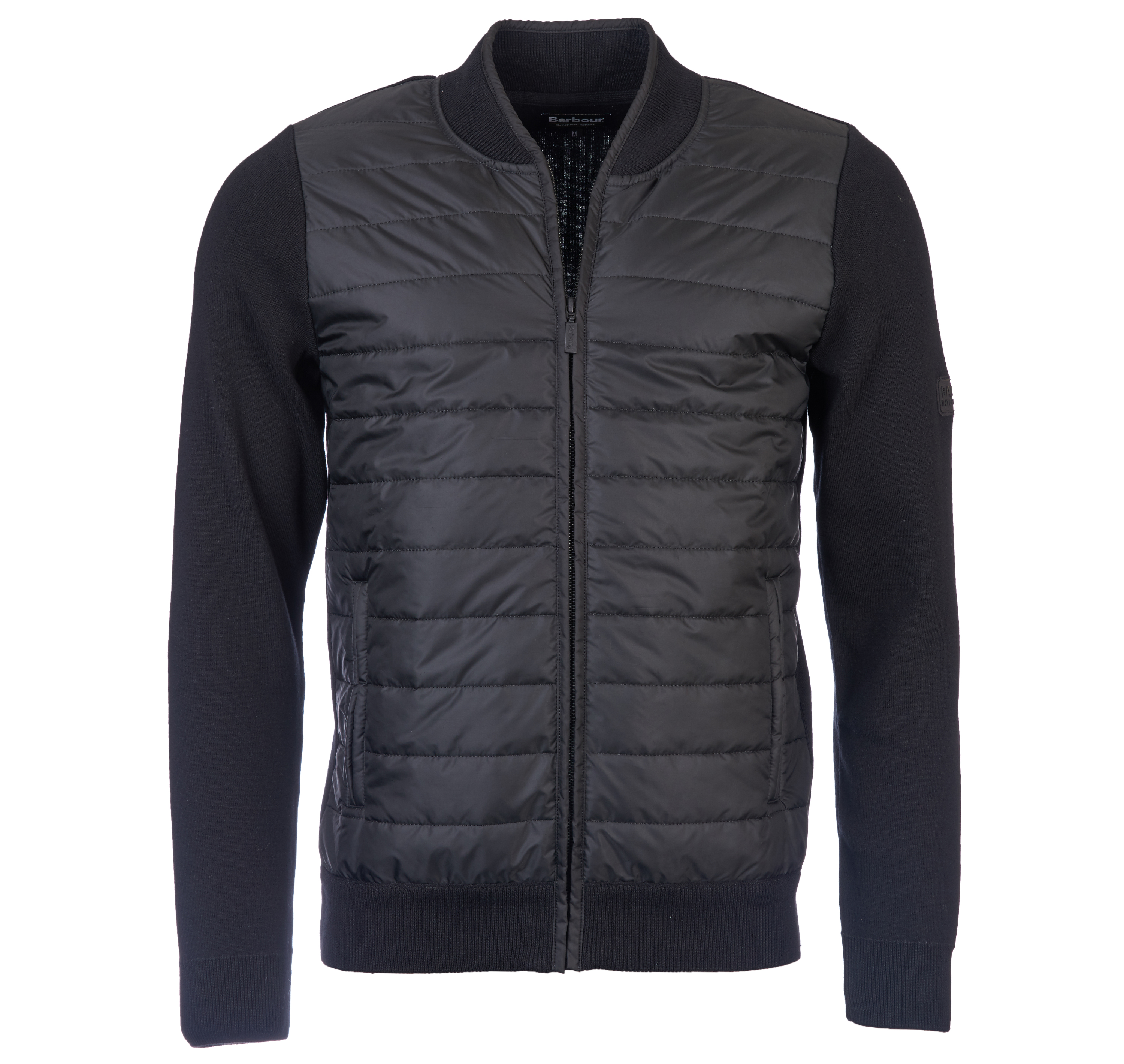 Barbour Intl Baffle Zip Through Black Barbour International