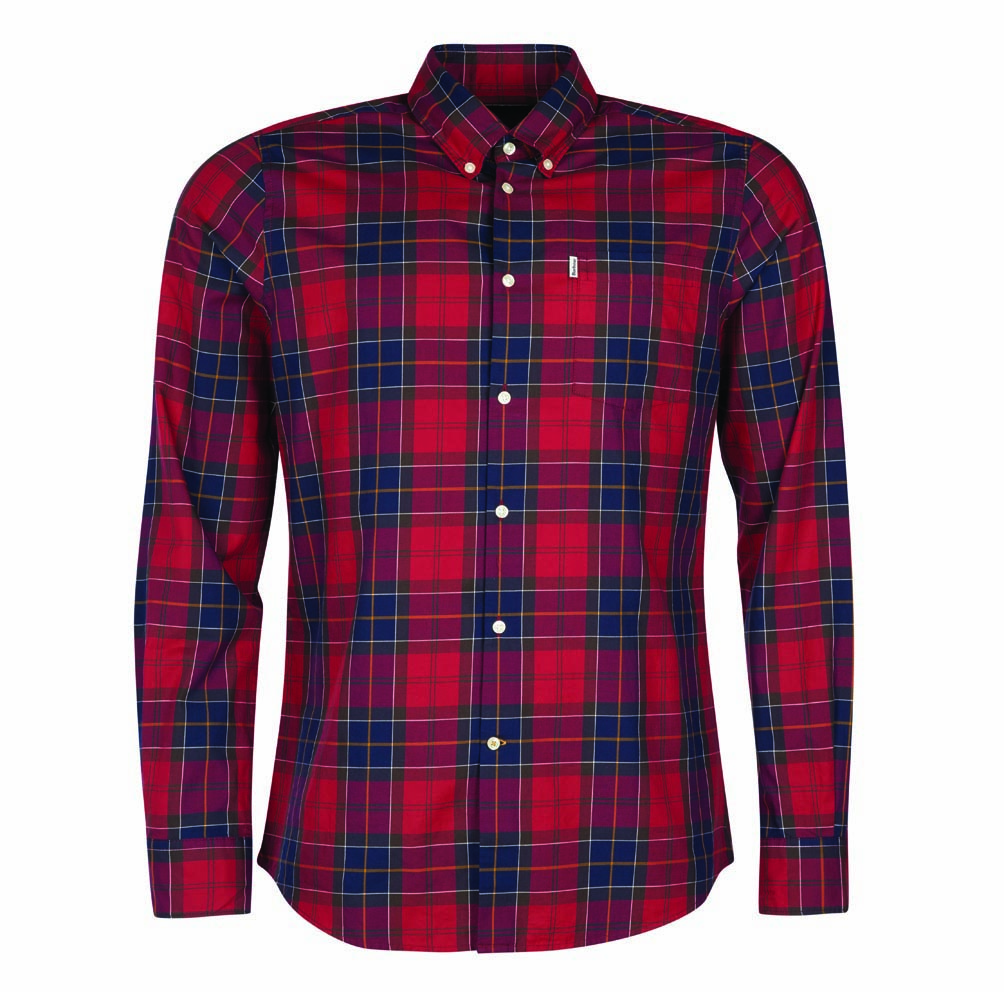 Barbour Wetheram Tailored Shirt Red Barbour International