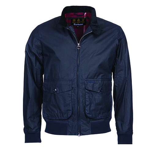 Barbour Hagart Waxed Cotton Jacket Navy Barbour Lifestyle: from the Classic capsule