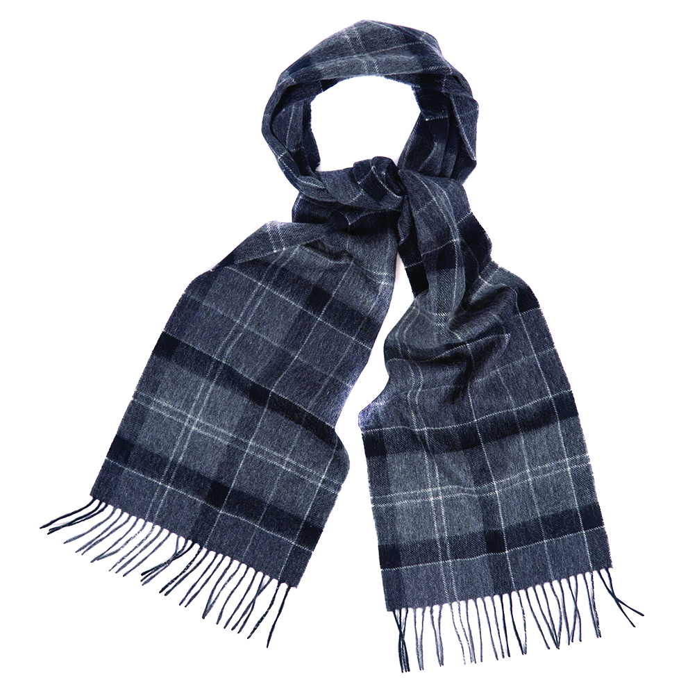 Barbour Barbour Holden Tartan Scarf Black Grey