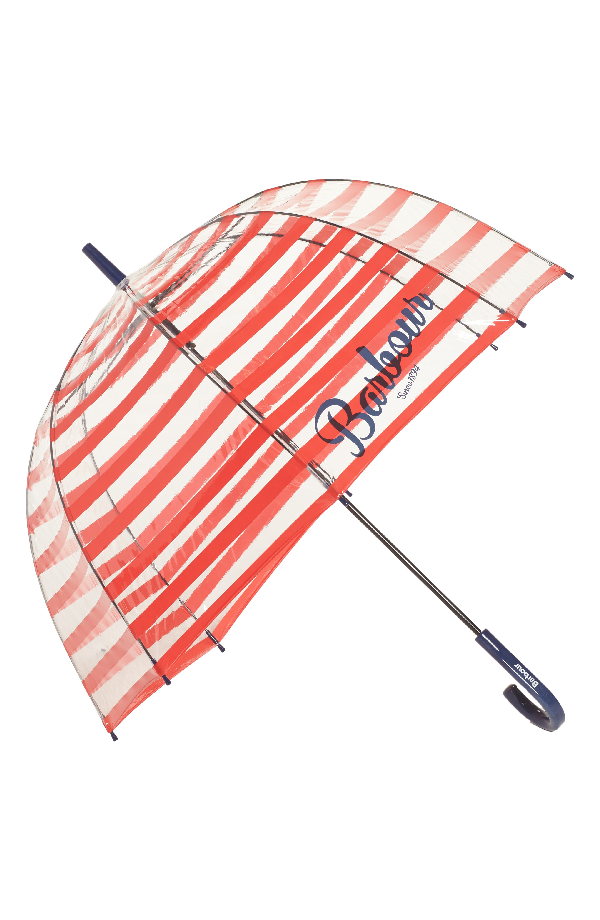 Barbour Barbour Stripe Bubble Umbrella Red