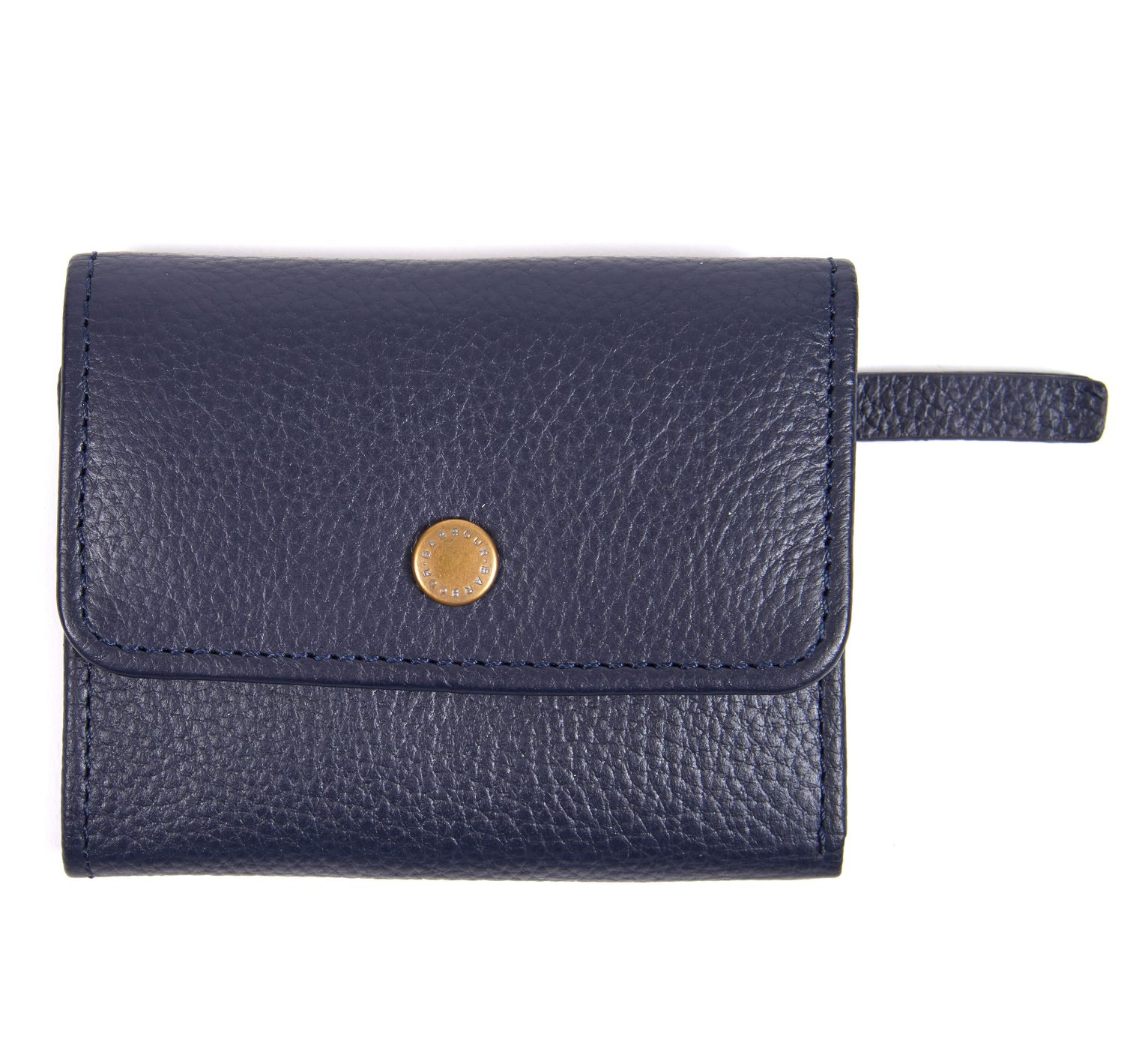 Barbour Barbour Barbour Leather Billfold Purse Navy