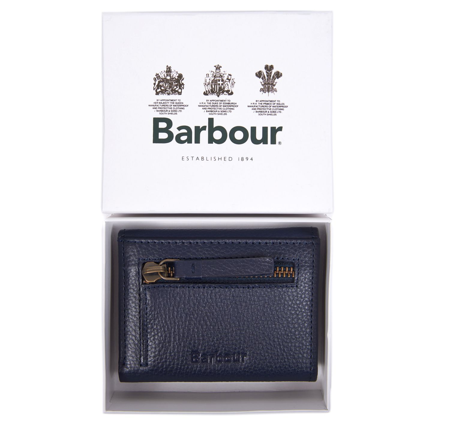 Barbour Barbour Leather Billfold Purse Navy