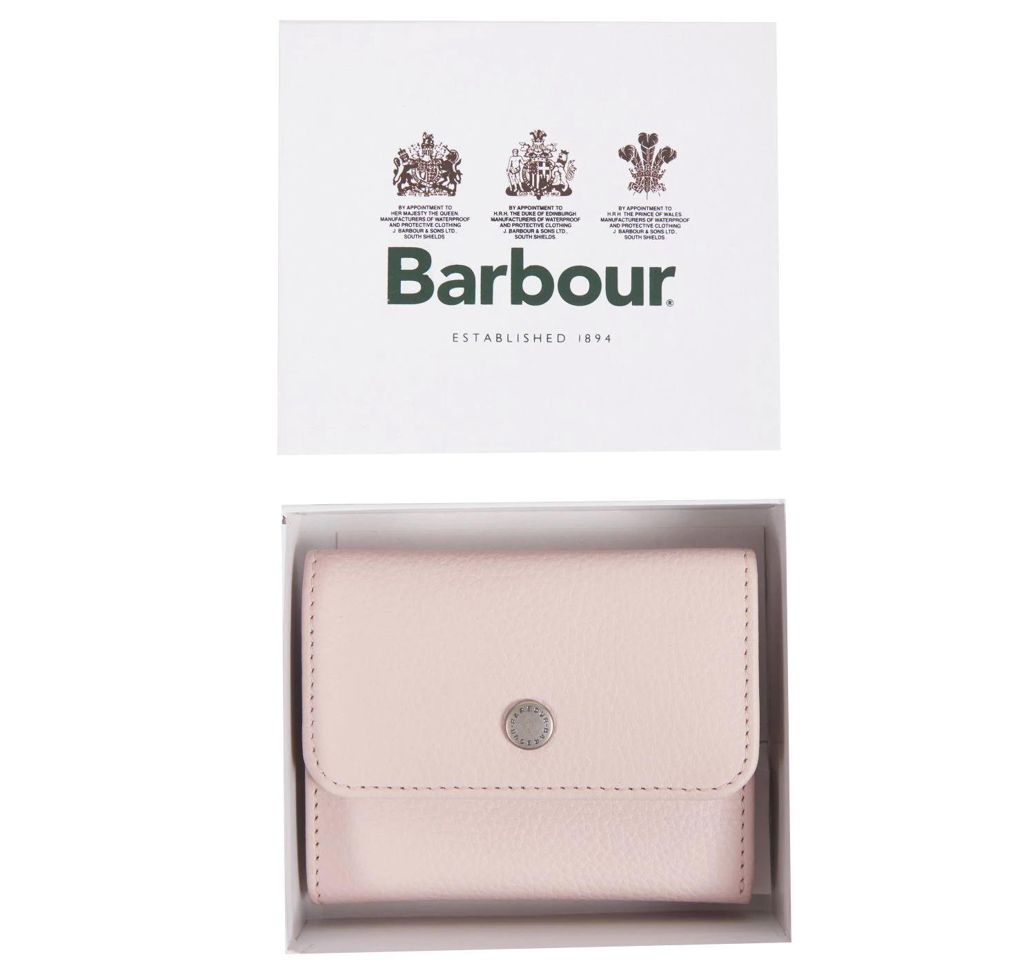Barbour Barbour Leather Billfold Purse Pink