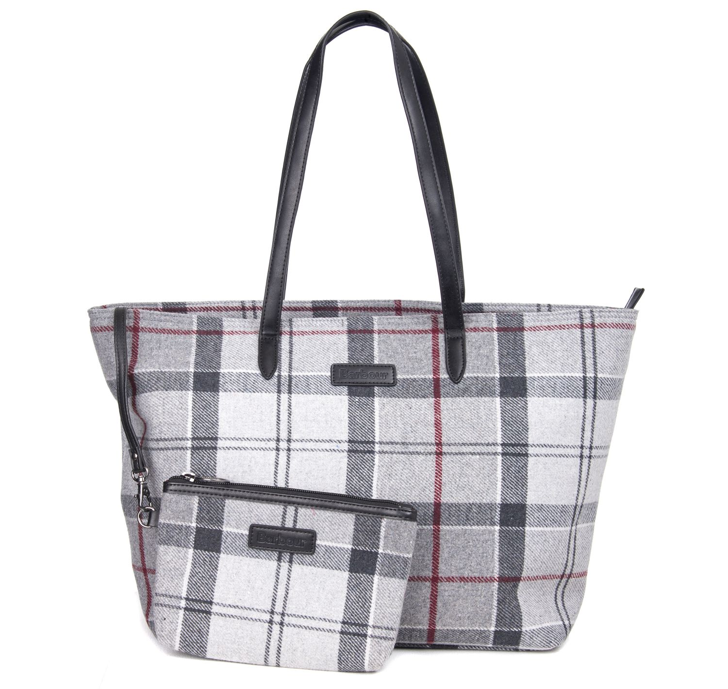Barbour Barbour Witford Tartan Tote Bag Grey Barbour Lifestyle: From the Winter Tartan Collection