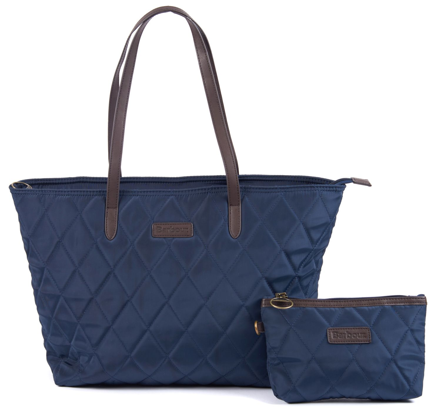 Barbour Witford Quilted Tote Bag Navy Barbour Lifestyle: From the Winter Tartan Collection