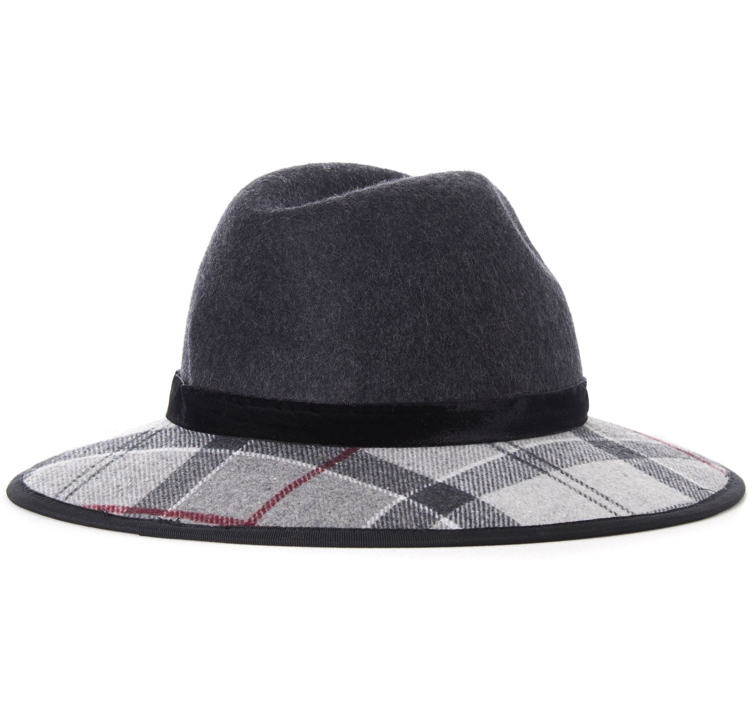 Barbour Barbour Thornhill Fedora Charcoal Gorro muy femenino con ala!