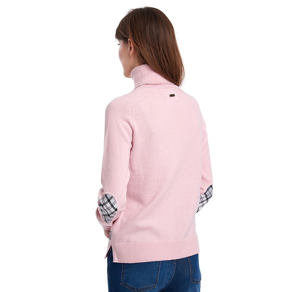Barbour Pendle Roll Neck Sweater Rose