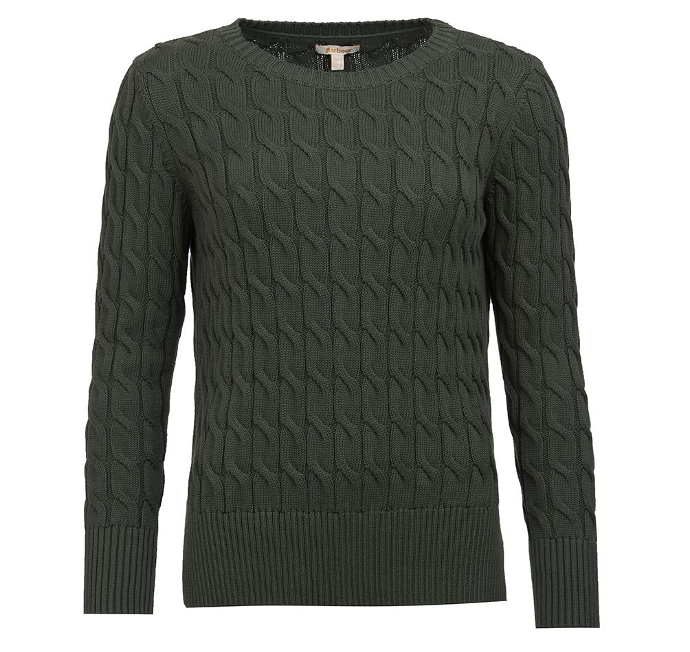 Barbour Barbour Lewes Knit Green Relaxed Fit