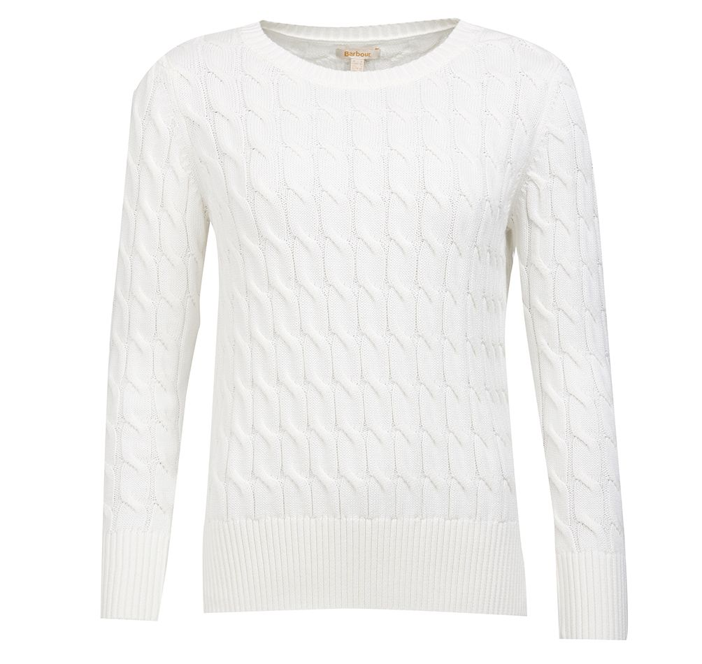 Barbour Barbour Lewes Knit Off White Barbour International Relaxed Fit