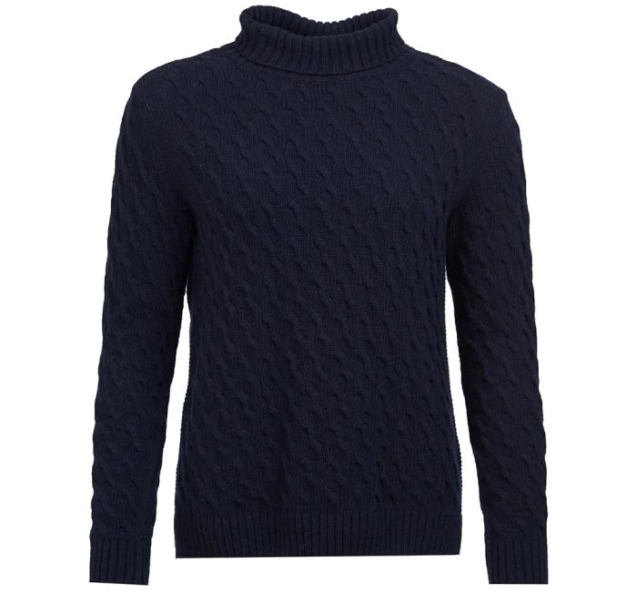 Barbour Barbour Burne Knit Navy Relaxed Fit