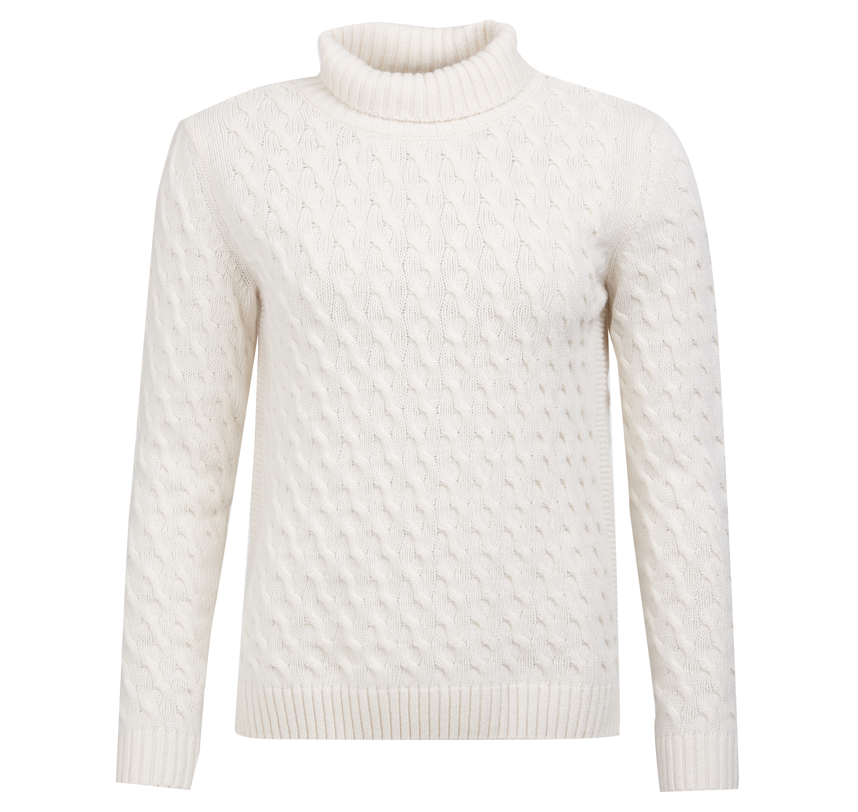 Barbour Barbour Burne Knit White Relaxed Fit