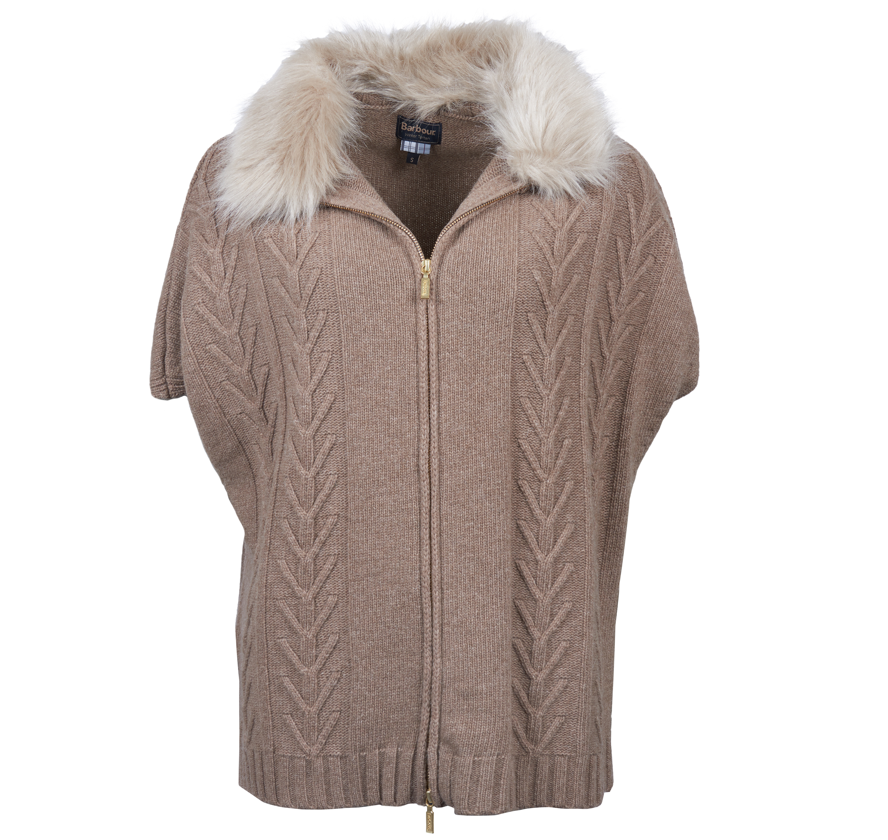 Barbour Beresford Knit Mink Marl Relaxed Fit