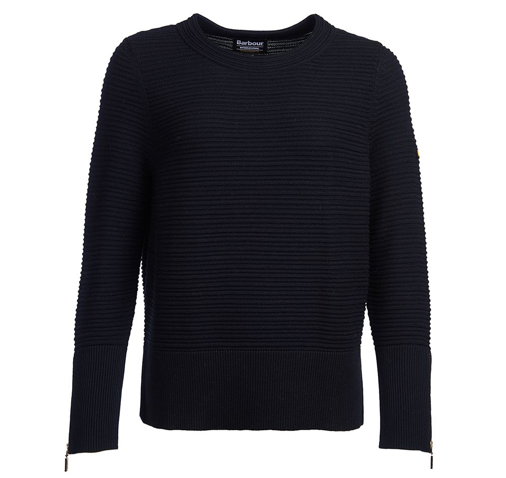 Barbour Barbour Intl Garrow Sweater Black Barbour International: Relaxed Fit