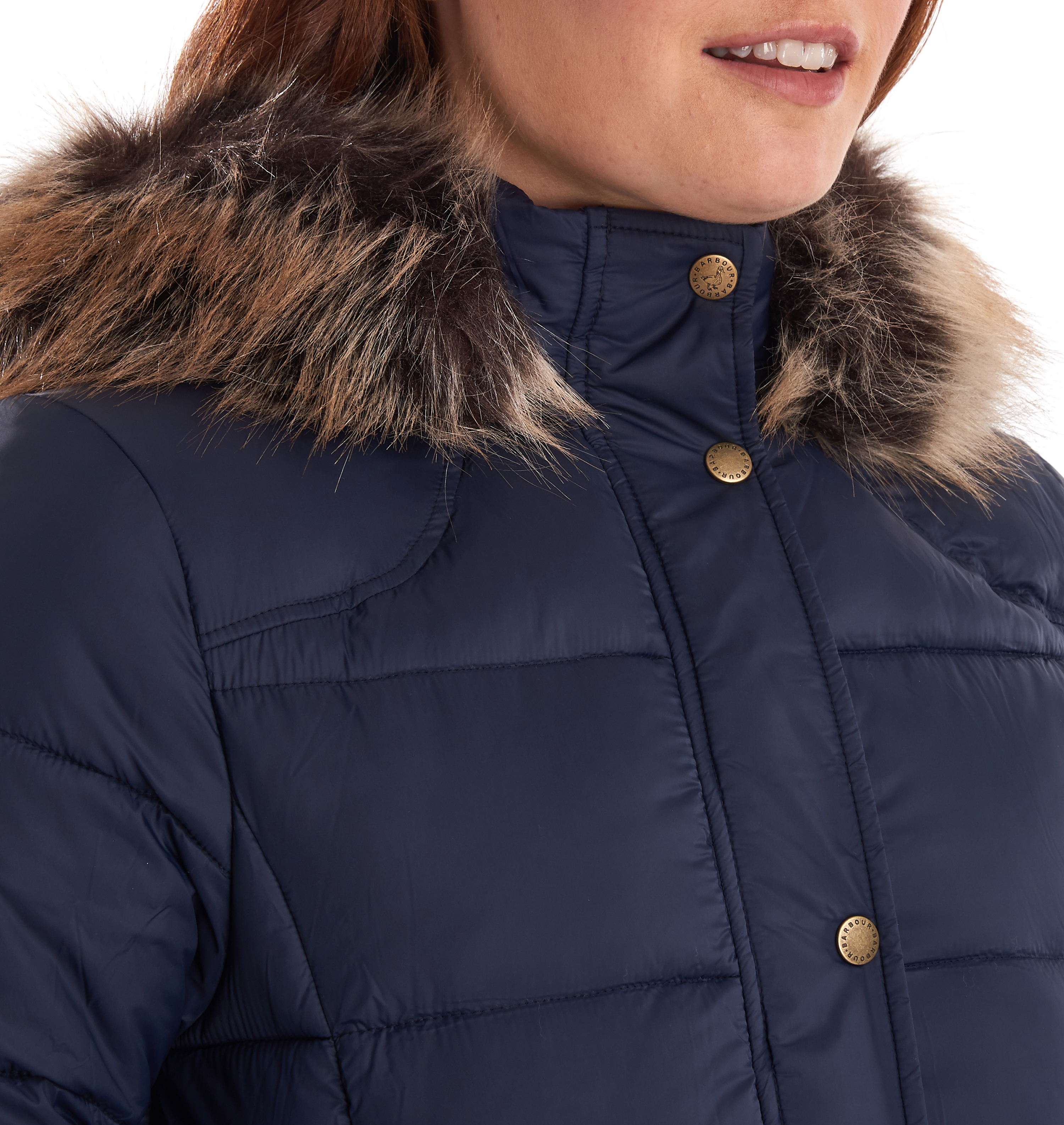 Barbour Caldbeck Quilted Jacket Navy