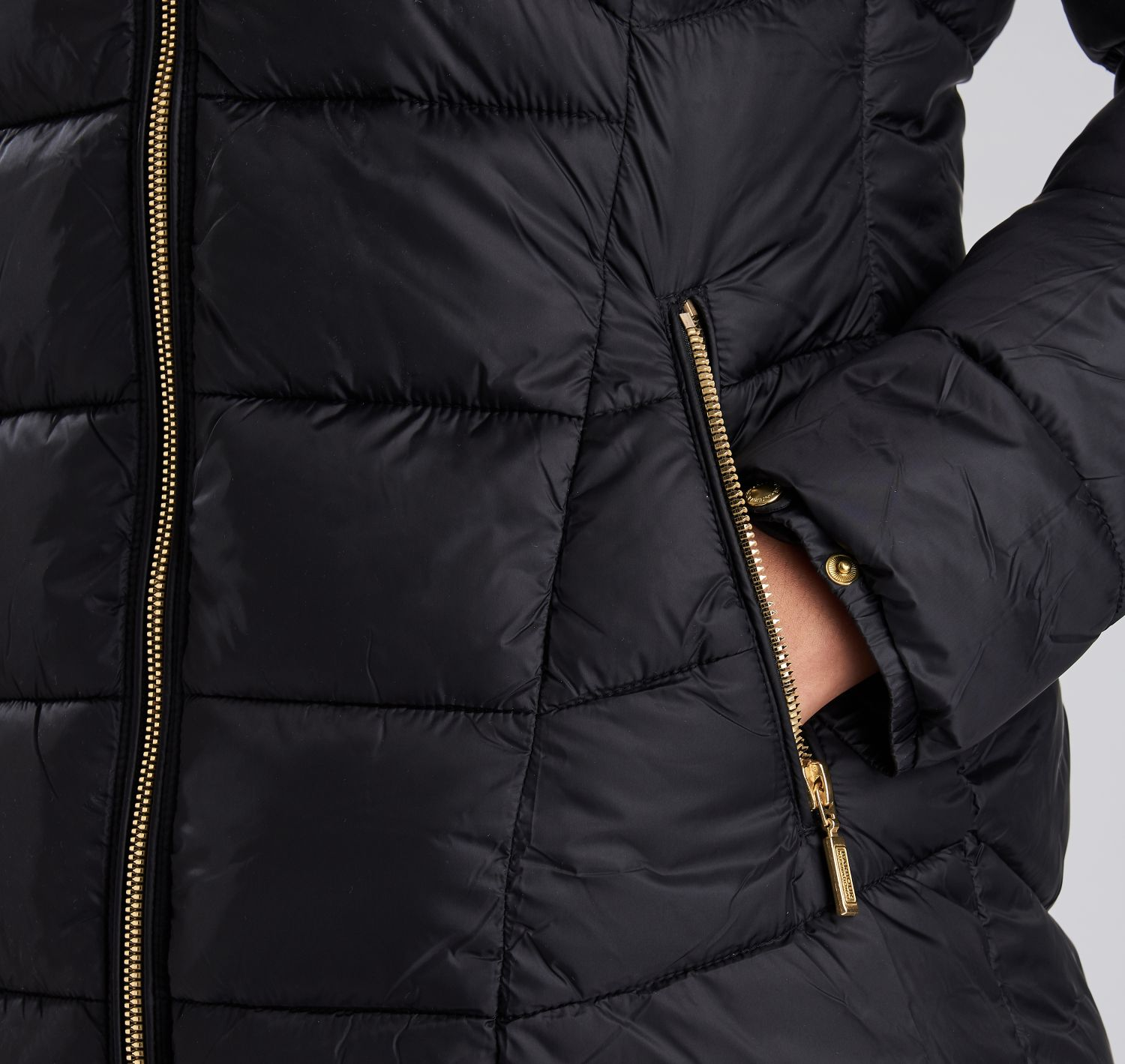 Barbour Hampton Quilted Black