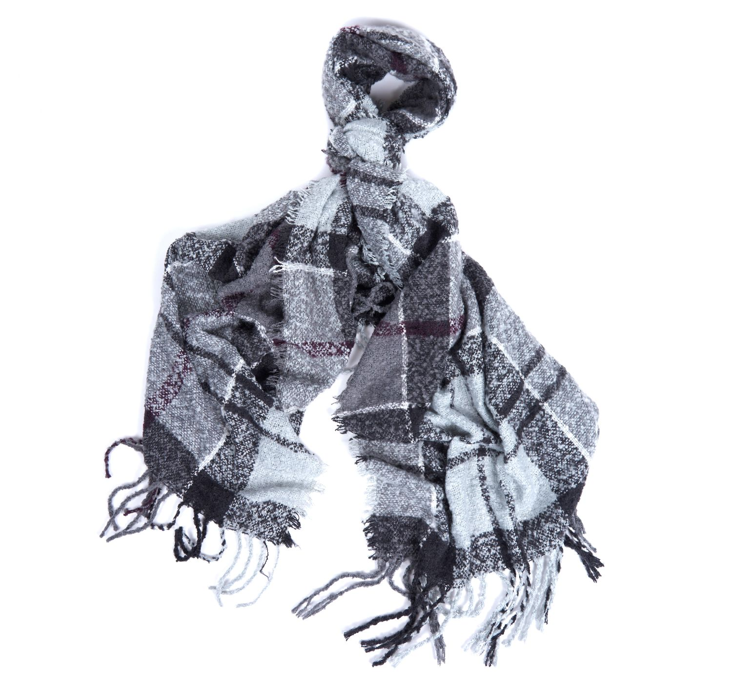 Barbour Barbour Tartan Boucle Scarf Winter Grey Barbour Lifestyle: From the Winter Tartan collection