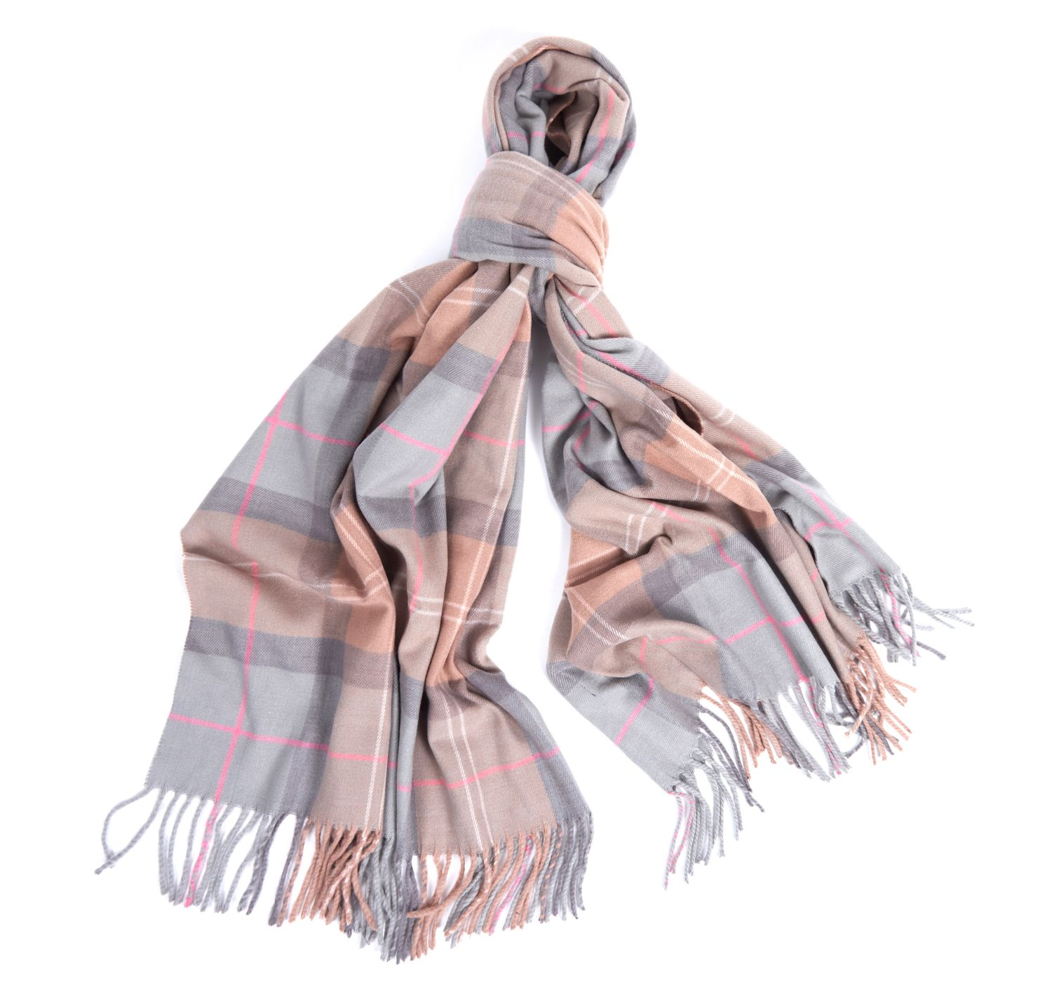 Barbour Hailes Tartan Wrap Taupe Barbour Lifestyle: from the Classic capsule