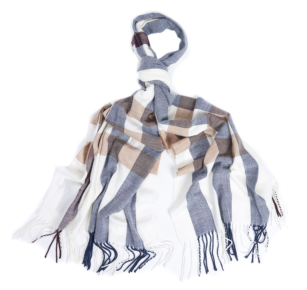 Barbour Barbour Skye Check Scarf Cloud Barbour Lifestyle