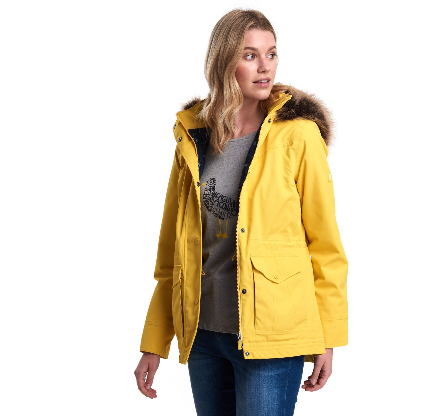 Barbour Abalone Jacket Sulphur