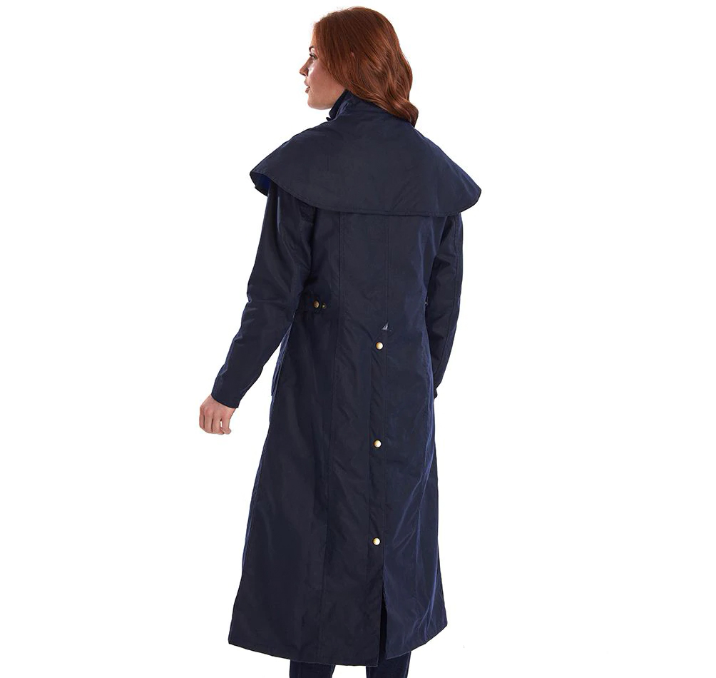 Barbour Throckley Wax Jacket Navy