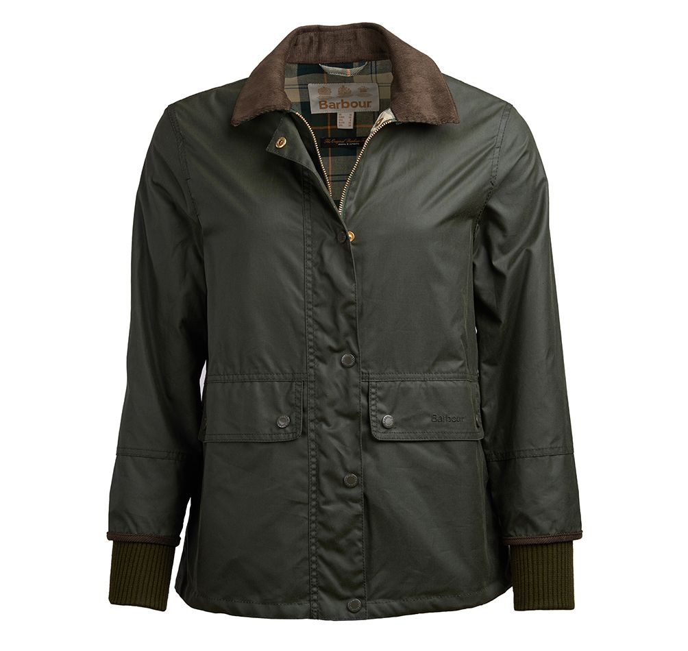 Barbour Tawny Wax Jacket Green Barbour International