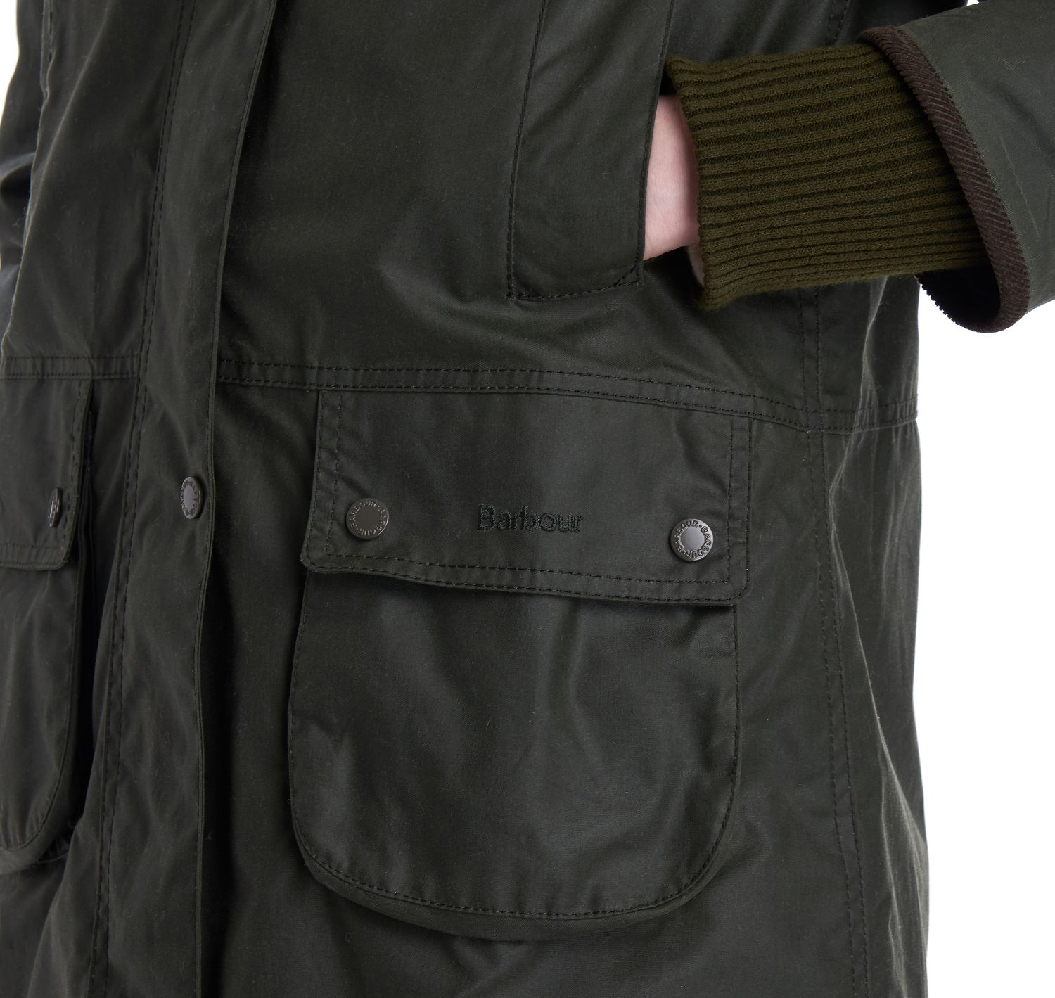 Barbour Wood Warbler Waxed Jacket Green