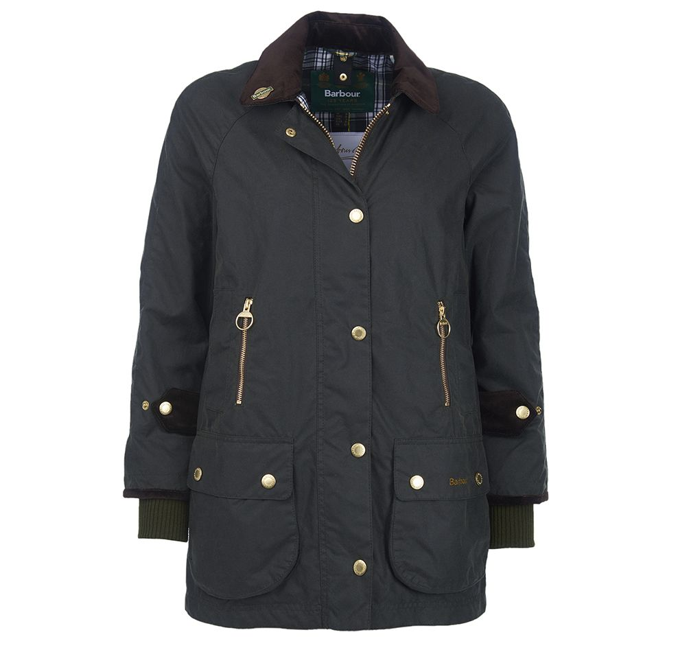 Barbour Ladies Icons Beaufort Waxed Jacket Barbour International: Regular Fit