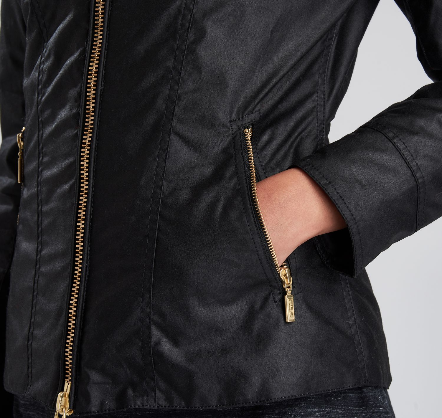 Barbour Intl Ballig Waxed Jacket Black