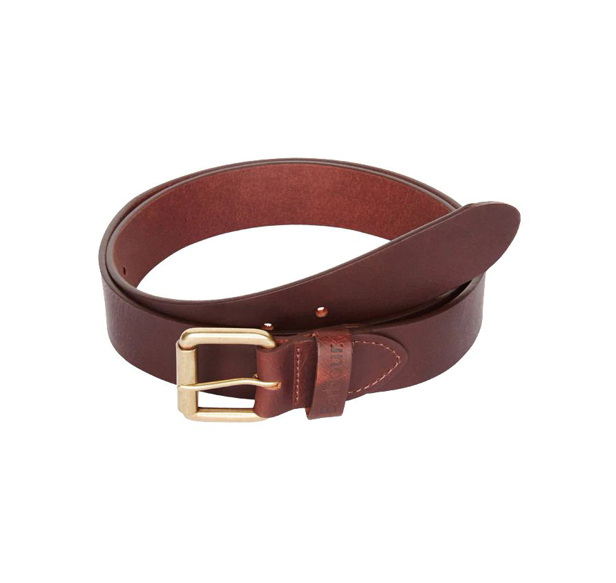 Barbour Matt Leather Belt Brown Cinturón de cuero