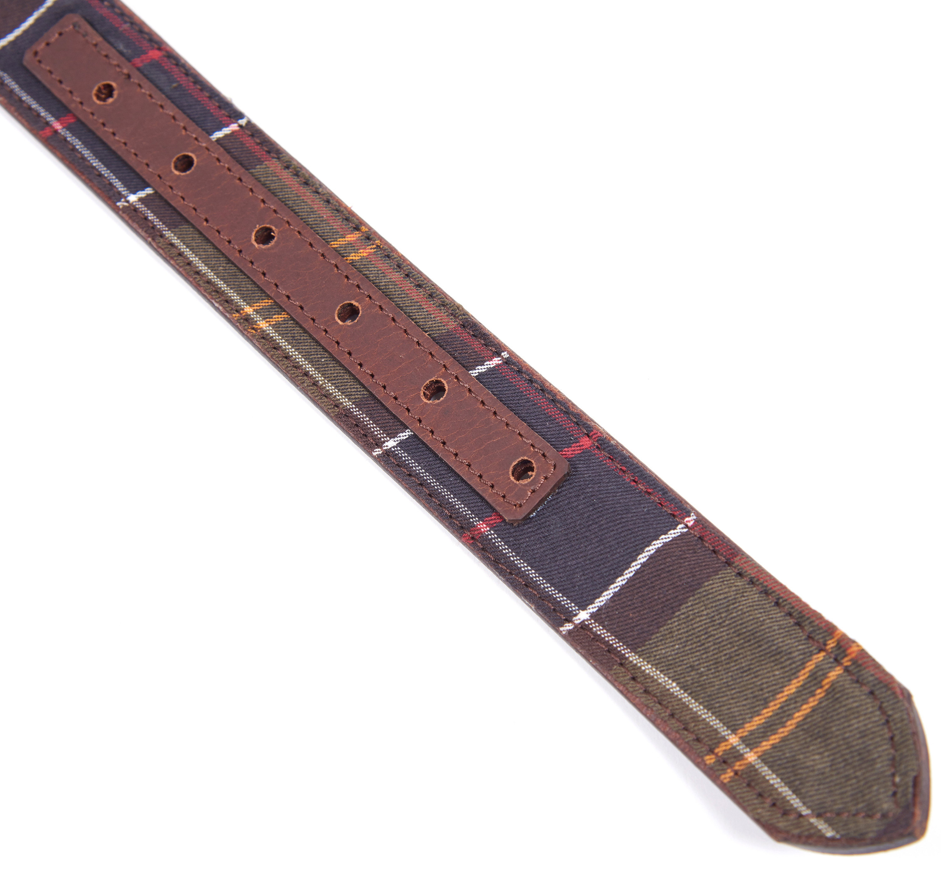 Barbour Reversible Leather Belt Tartan