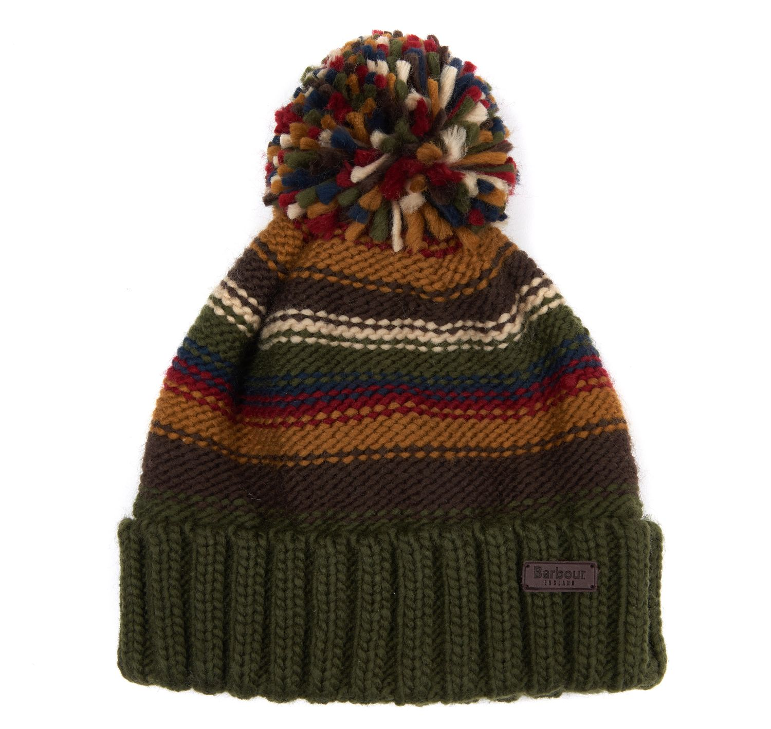 Barbour Barbour Harrow Stripe Beanie Olive Barbour Lifestyle: from the Classic capsule