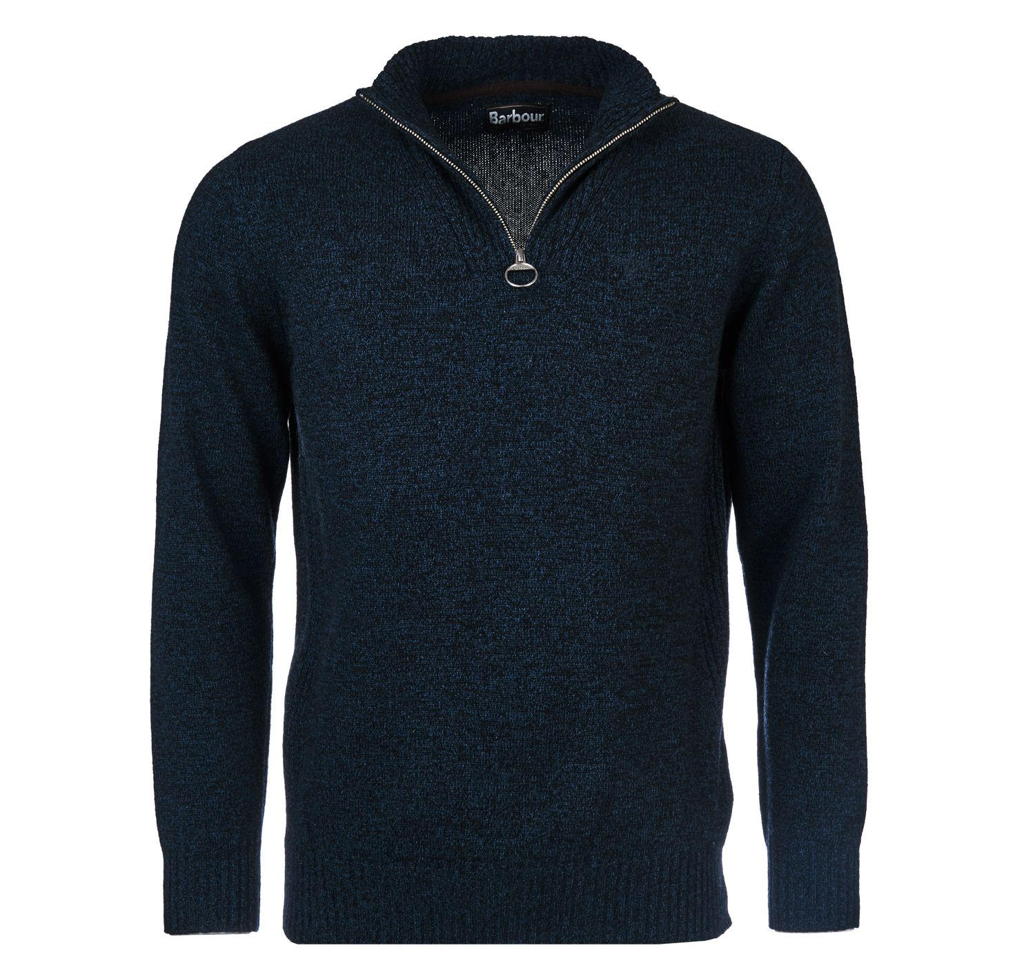 Barbour Essential Lambswool Half Zip Jumper Navy Mix Barbour Lifestyle: from the Classic capsule