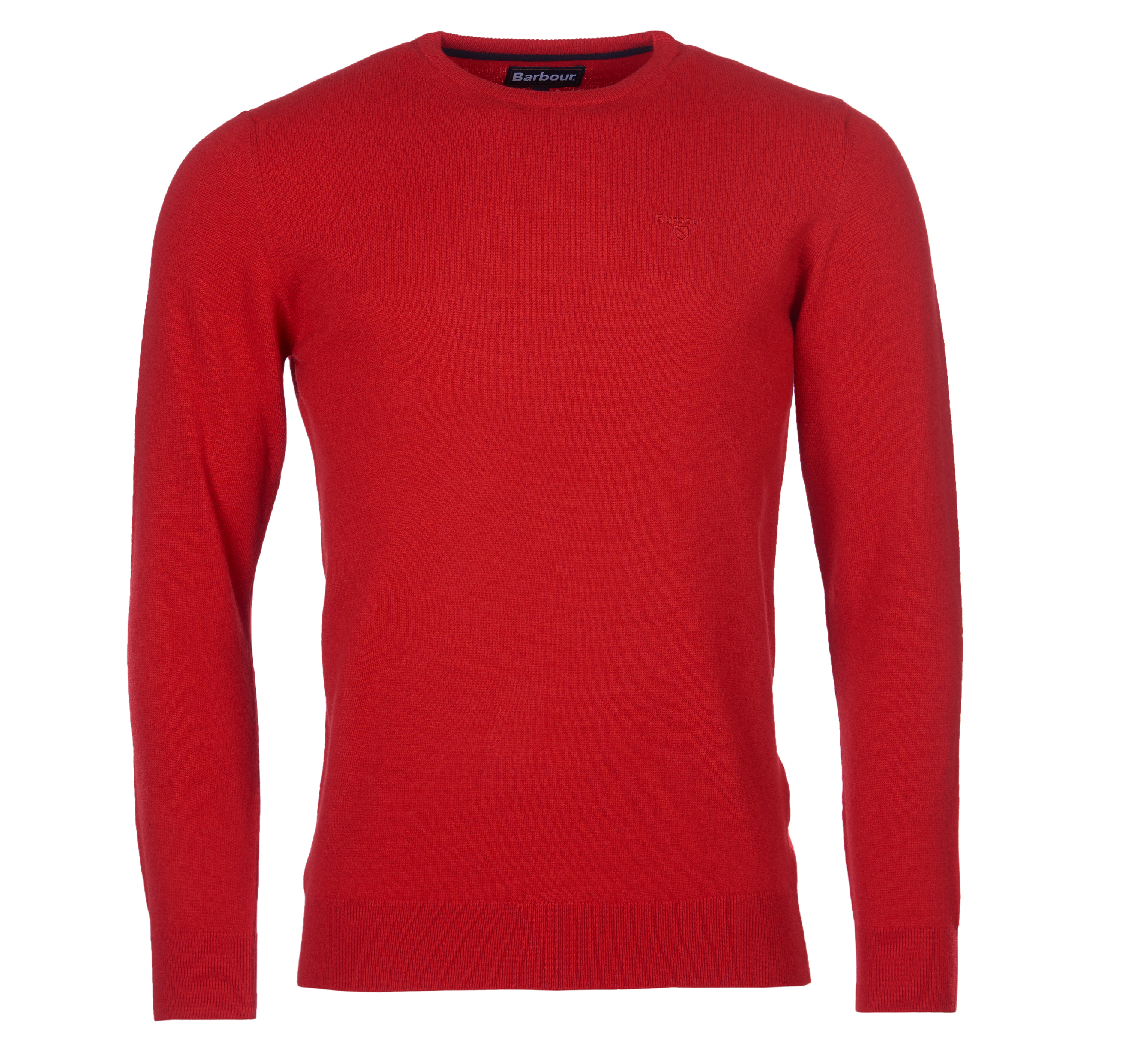 Barbour Essential Lambswool Crew Sweater Chilli Red Barbour Lifestyle: from the Classic capsule
