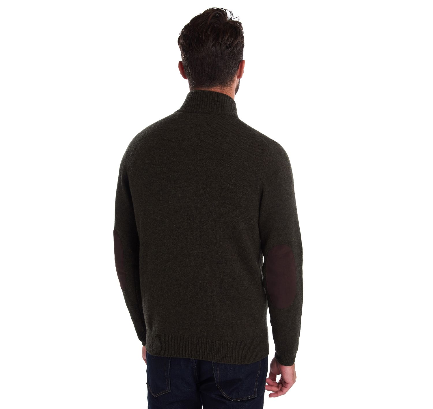 Barbour Patch Half Zip Jumper Seaweed