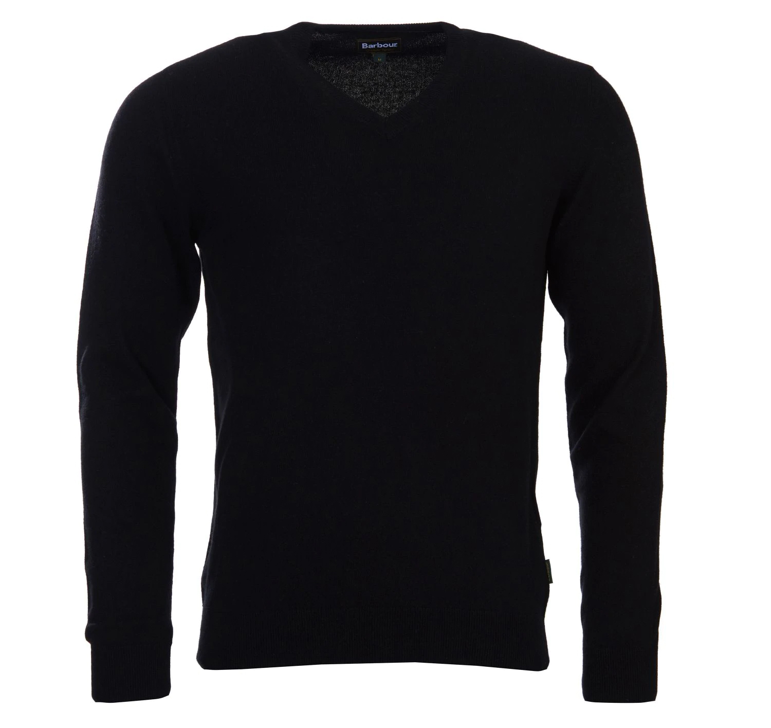 Barbour Harrow V Neck Jumper Black Barbour Lifestyle: from the Tartan Collection
