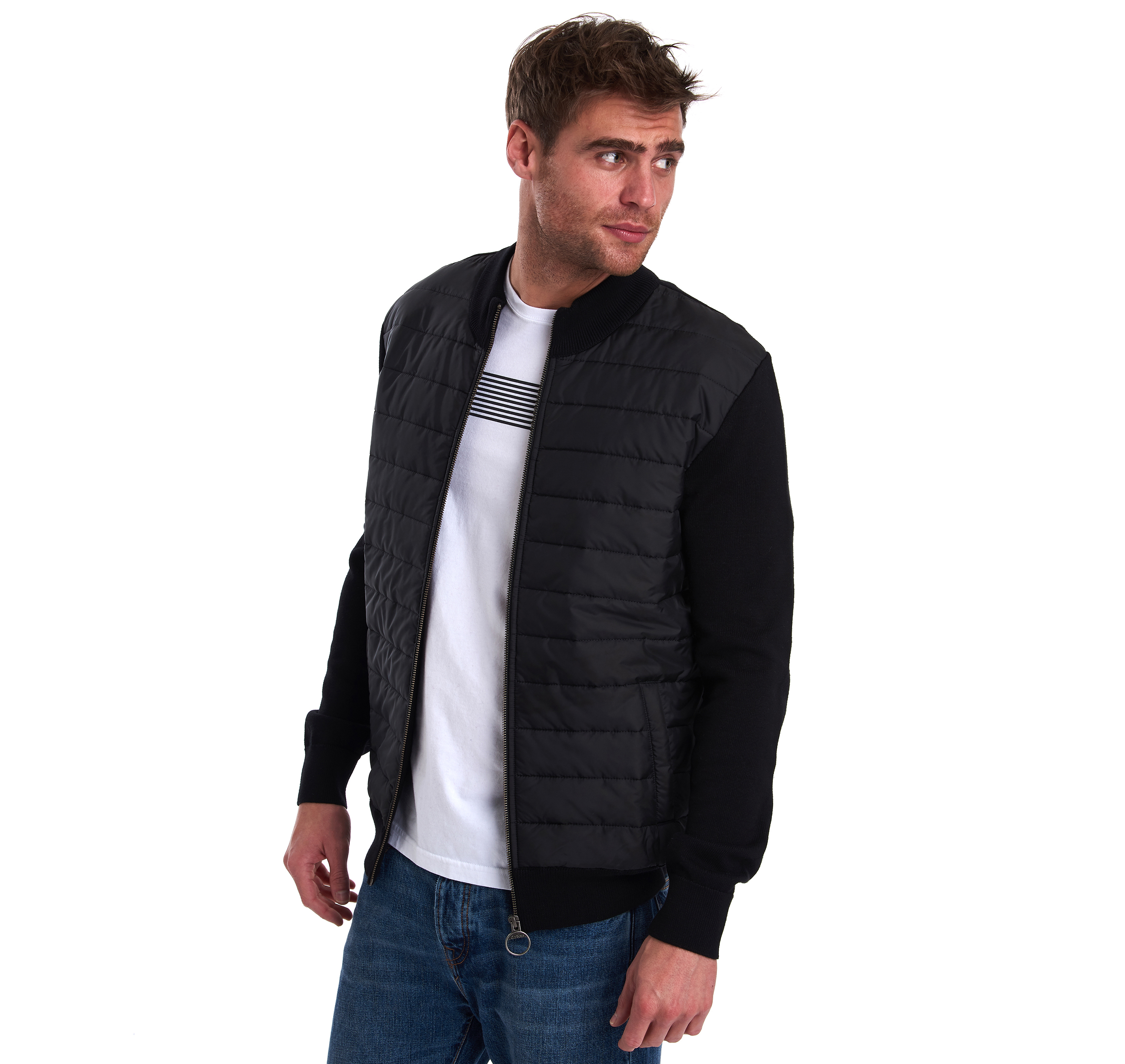 Barbour Carn Baffle Sweater Black