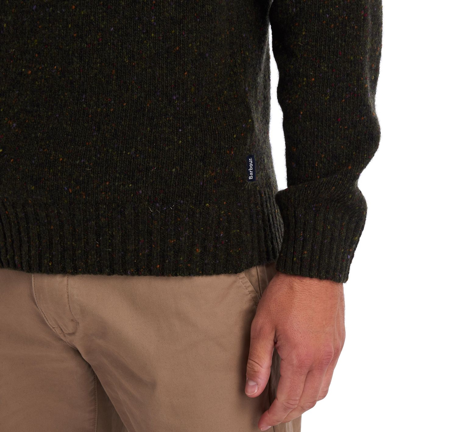 Barbour Netherton Crew Neck Sweater Forest