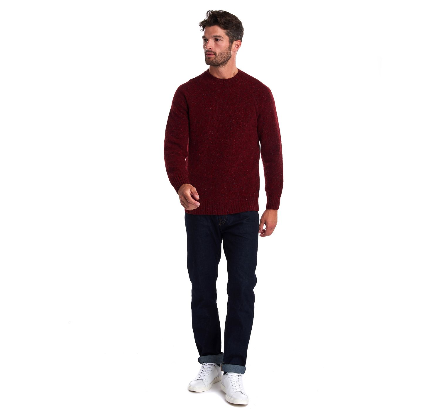 Barbour Netherton Crew Neck Sweater Merlot