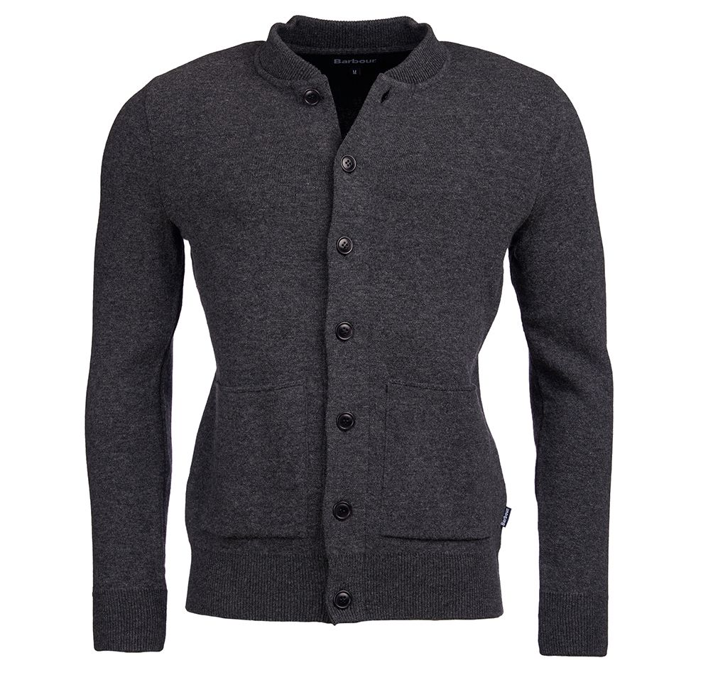 Barbour Barbour Witton Button Sweater Dark Grey Barbour Lifestyle: from the Classic capsule
