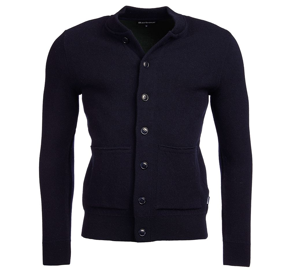 Barbour Witton Button Sweater Navy Barbour Lifestyle: from the Classic capsule
