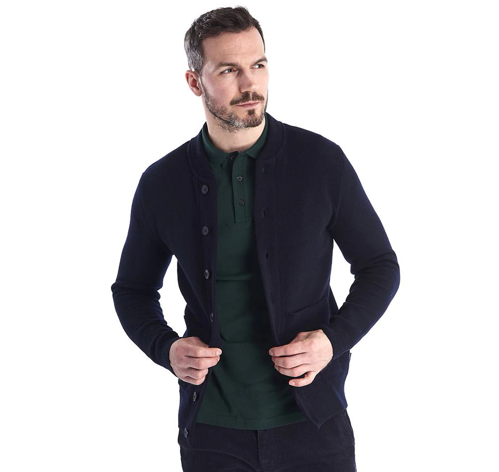 Barbour Witton Button Sweater Navy