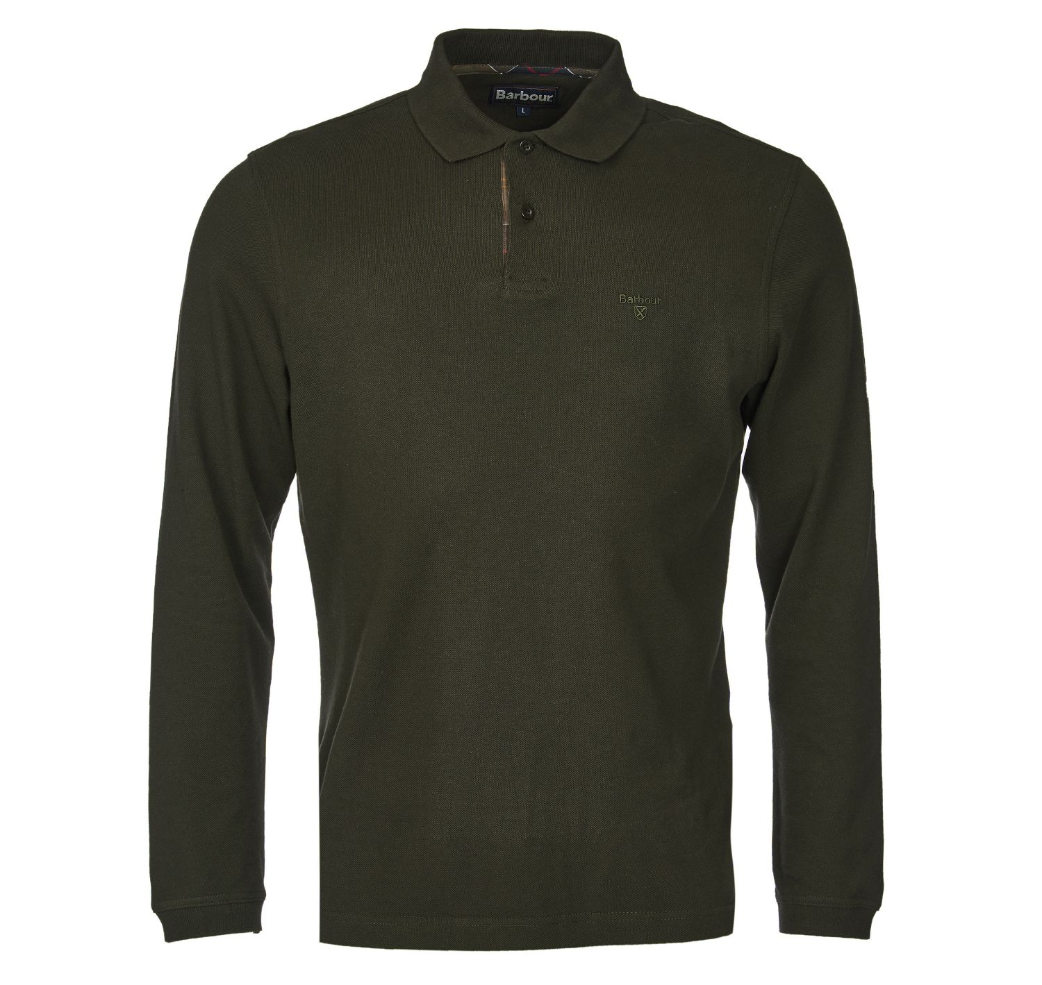 Barbour Long Sleeved Sports Polo Forest Barbour Lifestyle: from the Classic capsule