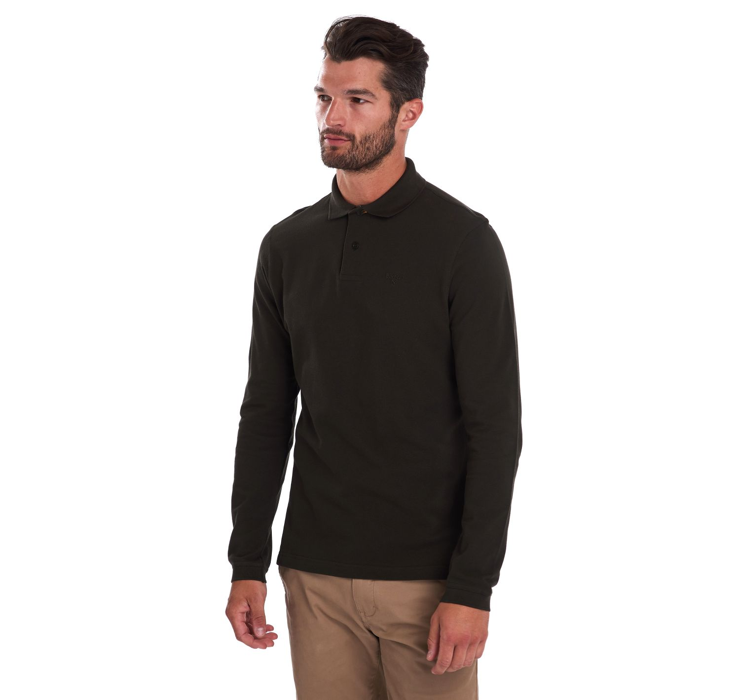 Barbour Long Sleeved Sports Polo Forest