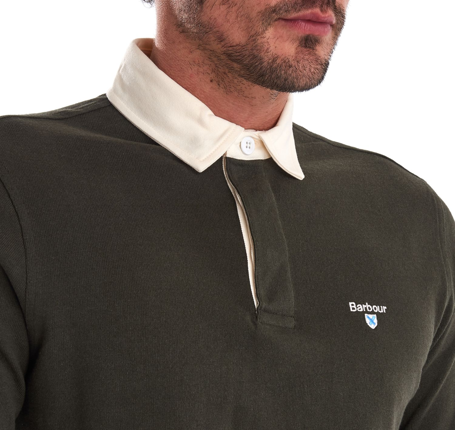 Barbour Shield Rugby Polo Shirt